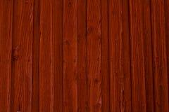 Fond en bois rouge de mur Image libre de droits