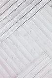 Fond en bois rustique blanc de planches Images libres de droits