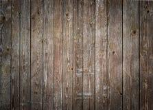 Fond en bois rustique de planches avec le dégradé gentil Images libres de droits