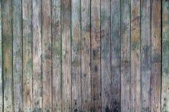 Fond en bois verdâtre de barrière Image stock