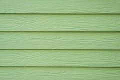 Fond en bois vert Photos libres de droits