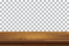 Fond en bois vide de dessus de table Vieux tex d'étagère de vintage illustration libre de droits