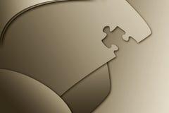 Fond en bronze de puzzle Image stock