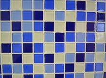Fond en céramique bleu Image libre de droits