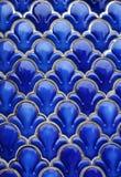 Fond en céramique bleu image stock