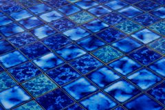 Fond en céramique bleu de mosaïque illustration stock