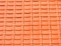 Fond en céramique orange rouge d'architecture de toit Image stock