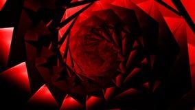fond en cristal en verre d'hypnose de tunnel de bijou de coquille de spirale de remous du résumé 4k banque de vidéos