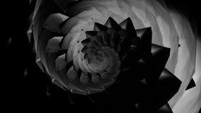 fond en cristal en verre d'hypnose de tunnel de bijou de coquille de spirale de remous du résumé 4k illustration libre de droits
