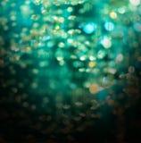 Fond en cristal vert d'abrégé sur Noël de bokeh Images stock