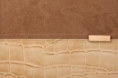 Fond en cuir avec la couture Image stock