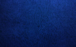 Fond en cuir bleu de texture Photographie stock