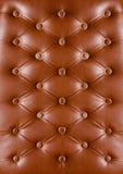 Fond en cuir de Brown Images libres de droits