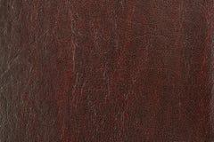 Fond en cuir de Brown Photographie stock