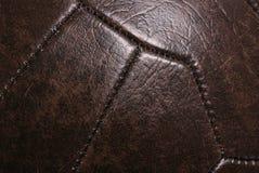 Fond en cuir du football de cru Photo libre de droits