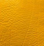 Fond en cuir jaune photo libre de droits