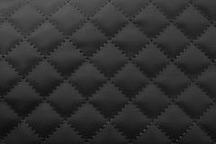 Fond en cuir noir, Image stock