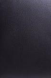 Fond en cuir noir Photo stock
