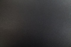 Fond en cuir noir de texture Photos libres de droits