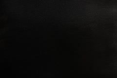 Fond en cuir noir de texture Photographie stock