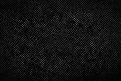 Fond en cuir noir véritable, modèle, texture Photographie stock libre de droits