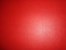 Fond en cuir rouge Photographie stock libre de droits