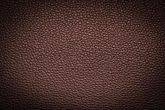Fond en cuir rouge-brun de texture pour la conception Images stock