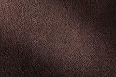 Fond en cuir rouge-brun de texture pour la conception Photos stock