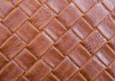 Fond en cuir tressé Photo libre de droits