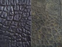 Fond en cuir véritable noir de texture images stock