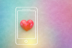 Fond en ligne de concept d'amour Image libre de droits