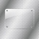 Fond en métal avec le cadre en verre Photos stock