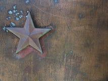 Fond en métal d'étoile Images libres de droits