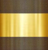 Fond en métal d'or Photographie stock libre de droits