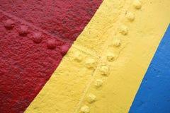 Fond en métal de couleur Images libres de droits
