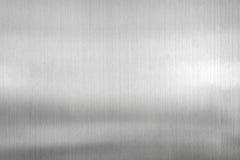 fond en métal de texture de la plaque d'acier balayée Images libres de droits