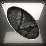 Fond en métal et de pierre Photographie stock