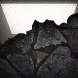 Fond en métal et de pierre Photographie stock libre de droits