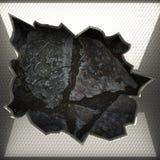 Fond en métal et de pierre Photos libres de droits