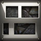 Fond en métal et de pierre Images libres de droits