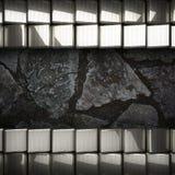 Fond en métal et de pierre Image stock