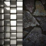 Fond en métal et de pierre Photo libre de droits