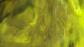 Fond en mouvement ou débordant de nourriture d'encre abstraite grise jaune de couleur