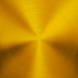 Fond en métal d'or avec la texture circulaire Photographie stock libre de droits