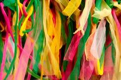 Fond en nylon vibrant coloré d'abtract de rubans image stock