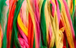 Fond en nylon vibrant coloré d'abtract de rubans photos stock