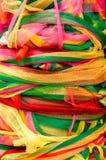 Fond en nylon vibrant coloré d'abtract de rubans photos libres de droits
