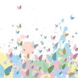 Fond en pastel coloré de peinture illustration stock