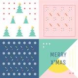 Fond en pastel de design de carte de Noël illustration de vecteur