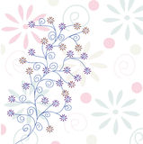 Fond en pastel floral Photos stock